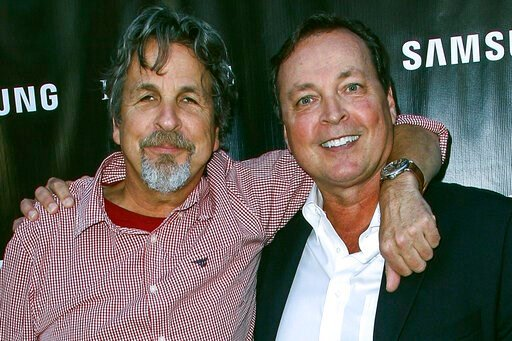 "(Photo by Paul A. Hebert/Invision/AP, File). FILE - In this Aug. 10, 2015 file photo, Peter Farrelly, left, and Bobby Farrelly attend The Project Greenlight Season 4 premiere of ""The Leisure Class"" at The Theatre At The Ace Hotel in Los Angeles. The Bo..."