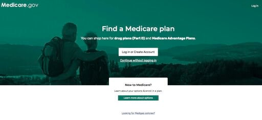 (Medicare via AP). This image from the Medicare.gov website shows the landing page to find a drug plan for seniors. Leading senators are urging Medicare to allow seniors concerned about their drug plan pick for next year to switch if they believe they ...