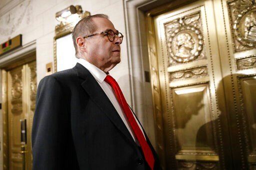 (AP Photo/Patrick Semansky). House Judiciary Committee Chairman Jerrold Nadler, D-N.Y., departs after the House Judiciary Committee heard investigative findings in the impeachment inquiry of President Donald Trump, Monday, Dec. 9, 2019, on Capitol Hill...