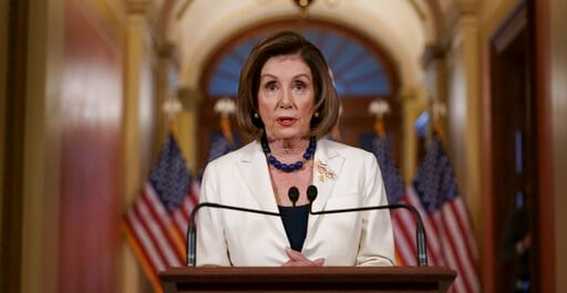 (AP Photo/J. Scott Applewhite). Speaker of the House Nancy Pelosi, D-Calif., makes a statement at the Capitol in Washington, Thursday, Dec. 5, 2019.  Pelosi announced that the House is moving forward to draft articles of impeachment against President D...