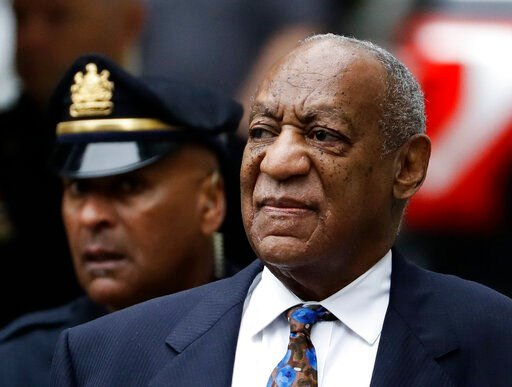 (AP Photo/Matt Slocum, File). FILE - In this Sept. 24, 2018 file photo Bill Cosby arrives for his sentencing hearing at the Montgomery County Courthouse in Norristown, Pa. A Pennsylvania appeals court has rejected Cosby's bid to overturn his sexual ass...