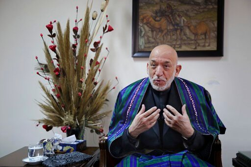 (AP Photo/Altaf Qadri). Former Afghan President Hamid Karzai speaks during an interview with The Associated Press, in Kabul, Afghanistan, Tuesday, Dec. 10, 2019. Karzai, whose final years in power were characterized by a cantankerous relationship with ...