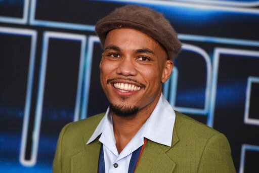 """(Photo by Jordan Strauss/Invision/AP). Anderson .Paak arrives at the world premiere of """"Spies in Disguise"""" at the El Capitan Theatre on Wednesday, Dec. 4, 2019, in Los Angeles."""