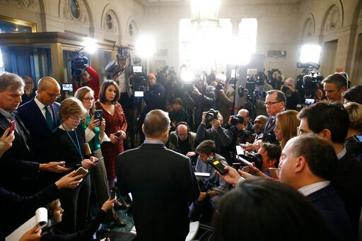 (AP Photo/Patrick Semansky). House Judiciary Committee Chairman Rep. Jerrold Nadler, D-N.Y., speaks from the podium after the House Judiciary Committee approved the articles of impeachment against President Donald Trump, Friday, Dec. 13, 2019, on Capit...