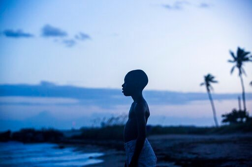 """(David Bornfriend/A24 via AP). This image released by A24 Films shows Alex Hibbert in a scene from the film, """"Moonlight."""""""