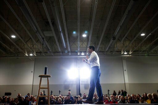(Joseph Cress/Iowa City Press-Citizen via AP). Democratic presidential candidate and South Bend, Ind. Mayor Pete Buttigieg speaks during a town hall, Sunday, Dec. 8, 2019, at the Coralville Marriott & Conference Center, in Coralville, Iowa.