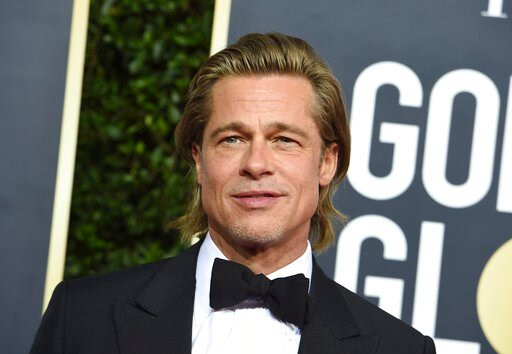 (Photo by Jordan Strauss/Invision/AP). Brad Pitt arrives at the 77th annual Golden Globe Awards at the Beverly Hilton Hotel on Sunday, Jan. 5, 2020, in Beverly Hills, Calif.
