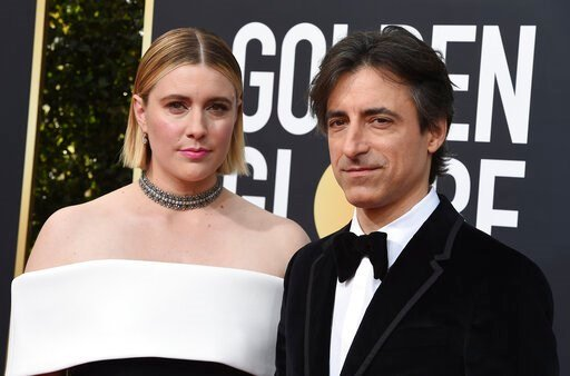 (Photo by Jordan Strauss/Invision/AP). FILE - This Jan. 5, 2020 file photo shows director Greta Gerwig, left, and Noah Baumbach at the 77th annual Golden Globe Awards in Beverly Hills, Calif. Both Gerwig and Baumback failed to receive Oscar nominations...