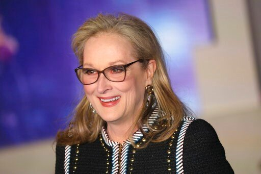 (Photo by Vianney Le Caer/Invision/AP, File). FILE - In this Dec. 12, 2018 file photo, Actress Meryl Streep poses for photographers upon arrival at the 'Mary Poppins Returns' premiere in central London.  Apple TV Plus said Friday, Jan. 17, 2020, Streep...