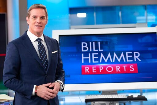 (AP Photo/Mary Altaffer). FOX News Channel's Bill Hemmer, anchor of news program Bill Hemmer Reports, poses for a photo on the set of his new show, Friday, Jan. 17, 2020, in New York. Hemmer takes over the 3 p.m. ET news hour that Shepard Smith vacated...