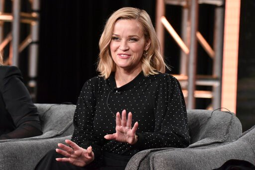 "(Photo by Richard Shotwell/Invision/AP). Reese Witherspoon participates in the Hulu ""Little Fires Everywhere"" panel during the Winter 2020 Television Critics Association Press Tour, on Friday, Jan. 17, 2020, in Pasadena, Calif."