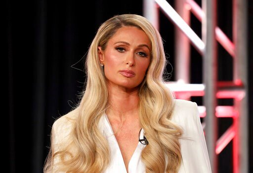 "(Photo by Willy Sanjuan/Invision/AP). Paris Hilton speaks at the ""Untitled Paris Hilton Documentary"" panel during the YouTube TCA 2020 Winter Press Tour at the Langham Huntington, Saturday, Jan. 18, 2020, in Pasadena, Calif."