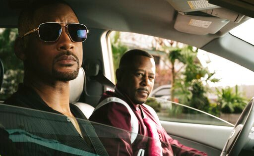 "(Ben Rothstein/Columbia Pictures-Sony via AP). This image released by Sony Pictures shows Martin Lawrence, right, and Will Smith in a scene from ""Bad Boys for Life."""