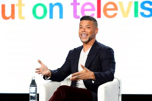 "(Photo by Willy Sanjuan/Invision/AP). Wilson Cruz speaks at the ""Visible: Out on Television"" panel during the Apple+ TCA 2020 Winter Press Tour at the Langham Huntington, Sunday, Jan. 19, 2020, in Pasadena, Calif."