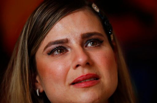 (AP Photo/Marco Ugarte). In this Jan. 14, 2020 photo, tears well up in Ana Lucia Salazar's eyes as she tells her story of abuse, during an interview in Mexico City. Salazar says that she was sexually abused by a Legion of Christ priest when she was eig...