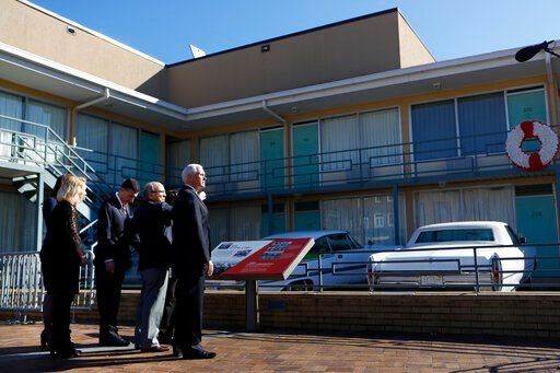 (Joe Rondone/The Commercial Appeal via AP). Vice President Mike Pence takes a tour of the National Civil Rights Museum at the Lorraine Motel, where Rev. Martin Luther King Jr. was fatally shot on April 4, 1968, in Memphis Sunday, Jan. 19, 2020.
