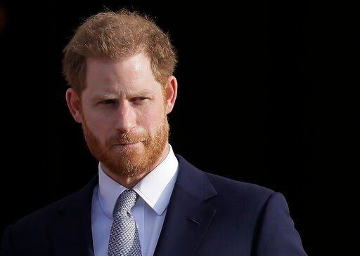 "(AP Photo/Kirsty Wigglesworth, File). FILE - In this Thursday, Jan. 16, 2020, file photo, Britain's Prince Harry arrives in the gardens of Buckingham Palace in London. Prince Harry said Sunday, Jan. 19 that he felt ""great sadness"" but found ""no other o..."