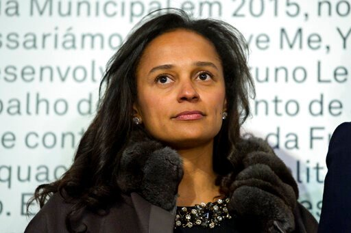(AP Photo/Paulo Duarte). In this March 5, 2015 photo, Isabel dos Santos, reputedly Africa's richest woman, attends the opening of an art exhibition featuring works from the collection of her husband and art collector Sindika Dokolo in Porto, Portugal. ...