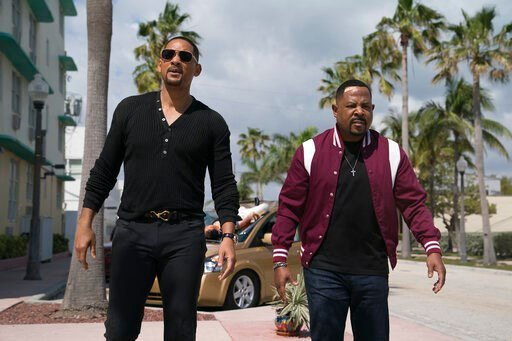 """(Ben Rothstein/Columbia Pictures-Sony via AP). This image released by Sony Pictures shows Martin Lawrence, right, and Will Smith in a scene from """"Bad Boys for Life."""""""