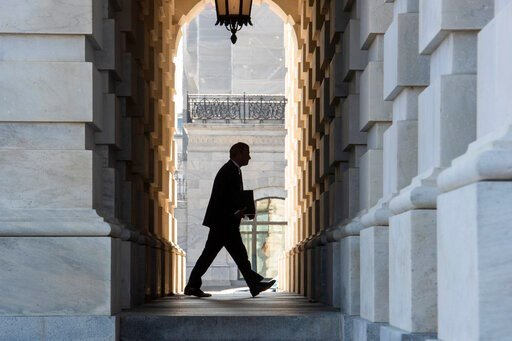 (AP Photo/Cliff Owen). Supreme Court Chief Justice John Roberts arrives at the Capitol in Washington, Tuesday, Jan. 21, 2020. President Donald Trump'simpeachment trialquickly burst into a partisan fight Tuesday as proceedings began unfolding at the C...