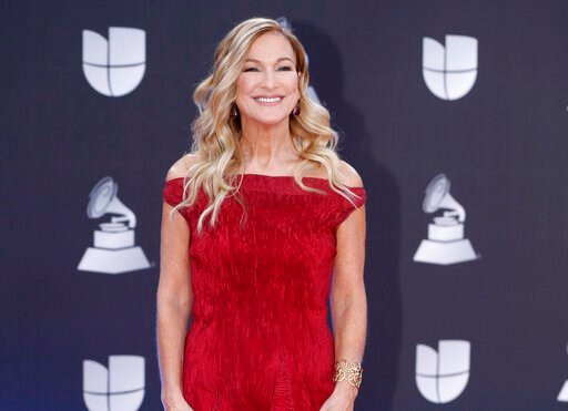 (Photo by Eric Jamison/Invision/AP, File). FILE - This Nov. 14, 2019 file photo shows Grammys CEO Deborah Dugan at the 20th Latin Grammy Awards in Las Vegas. Dugan has fired back at the Recording Academy with a complaint claiming she was retaliated aga...