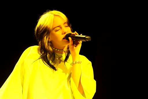 (Photo by Willy Sanjuan/Invision/AP). Billie Eilish performs live on stage at the 2020 Spotify Best New Artist Party at The Lot Studios on Thursday, Jan. 23, 2020, in West Hollywood, Calif.