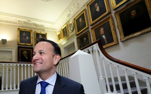 (Brian Lawless/PA via AP). Prime Minister of Ireland Leo Varadkar arrives ahead of a Fine Gael press conference to launch their party economic plan in Dublin, Ireland, Thursday Jan. 16, 2020. Ireland's General Election will be held on Feb. 8, 2020.
