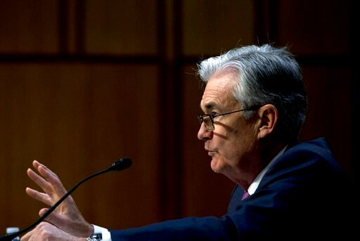 (AP Photo/Jose Luis Magana, File). FILE - In this Nov. 13, 2019, file photo Federal Reserve Board Chair Jerome Powell testifies on the economic outlook, on Capitol Hill in Washington. On Wednesday, Jan. 29, 2020, the Federal Reserve issues a statement ...