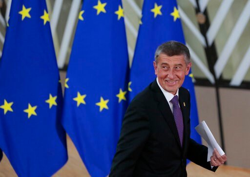 (AP Photo/Virginia Mayo). Czech Republic's Prime Minister Andrej Babis arrives for an EU summit at the European Council building in Brussels, Thursday, Feb. 20, 2020. After almost two years of sparring, the EU will be discussing the bloc's budget to wo...