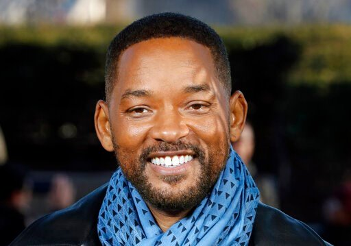 """(AP Photo/Thibault Camus, File). FILE - In this Monday, Jan. 6, 2020, file photo, U.S actor Will Smith poses for photographers during the photo call of """"Bad Boys for Life,"""" in Paris. Smith says he was """"humbled and honored"""" after rapper Joyner Lucas rel..."""