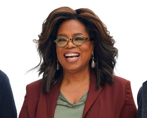 (AP Photo/Tony Avelar, File). FILE - This March 25, 2019 file photo shows Oprah Winfrey during an event to announce new Apple products in Cupertino, Calif. Winfrey says she's playing it safe when it comes to the rapidly spreading coronavirus. The 66-ye...