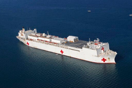 (U.S. Navy photo by Petty Officer 2nd Class Chelsea Kennedy/Released). In this Jan. 20, 2010 file photo, the Military Sealift Command hospital ship USNS Comfort is anchored off the coast of Haiti  to support Operation Unified Response. On Wednesday, Ma...