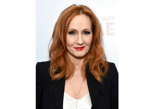 """(Photo by Evan Agostini/Invision/AP, File). FILE - This Dec. 11, 2019 file photo shows J.K. Rowling, author of the """"Harry Potter"""" book series, at the premiere of """"Finding the Way Home""""  in New York. The author has launched an online initiative, www.har..."""