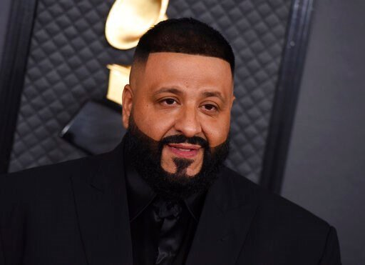 (Photo by Jordan Strauss/Invision/AP, File). FILE - This Jan. 26, 2020 file photo shows DJ Khaled at the 62nd annual Grammy Awards in Los Angeles. Khaled, Charlie Wilson, Chance the Rapper, Kirk Franklin, Fantasia, Melvin Crispell III will perform in a...