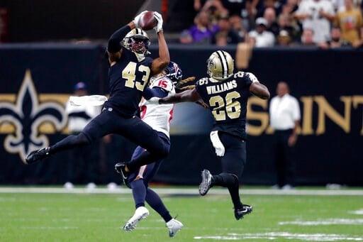 Lutz's 58-yard field goal lifts Saints over Texans, 30-28